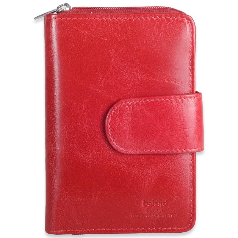 Rød Damepung i skind - 19 Kort