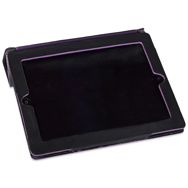 Aurore Sort ipad sleeve i Kalveskind