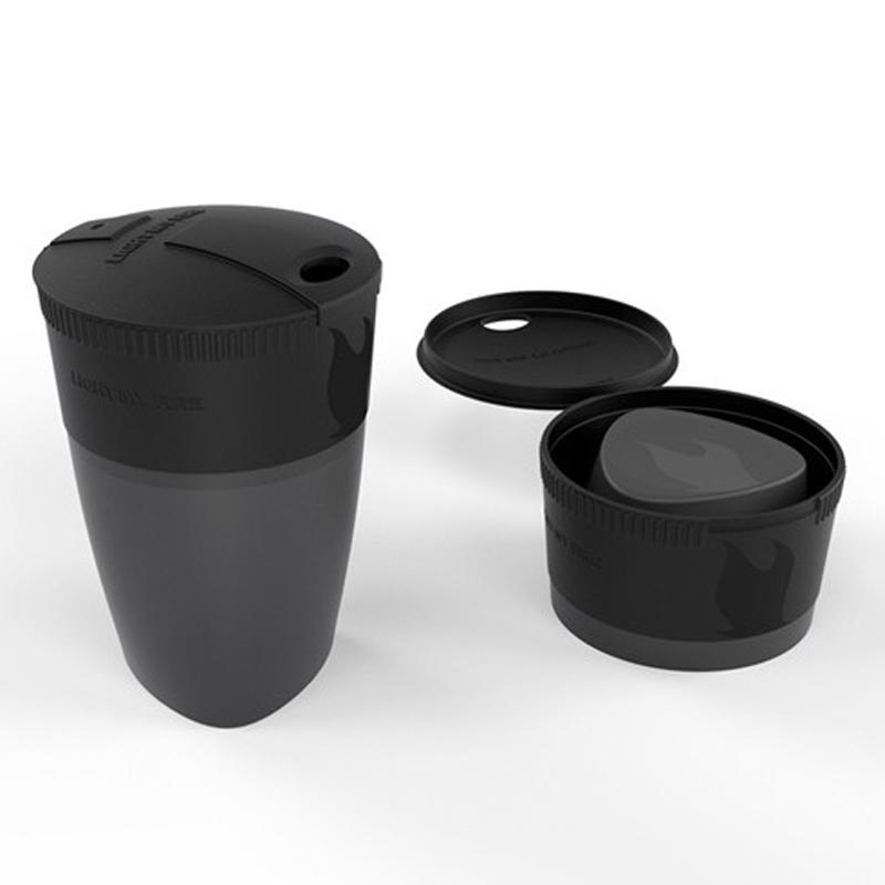 Black pack-up-cup - foldekop 2,6 dl