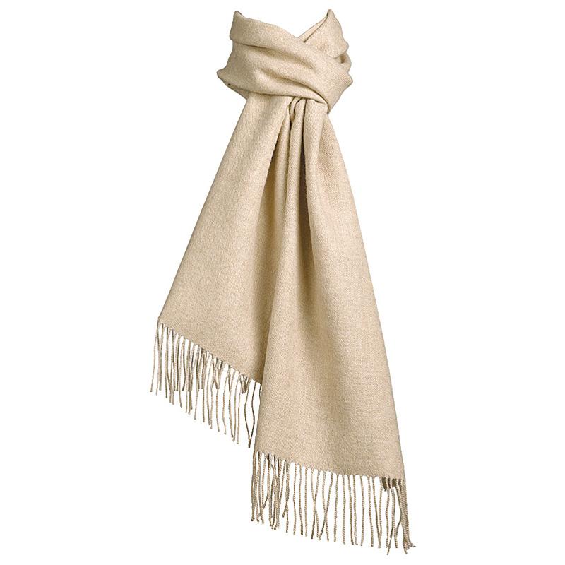 Beige Halstørklæde 100% Baby Alpaka Uld