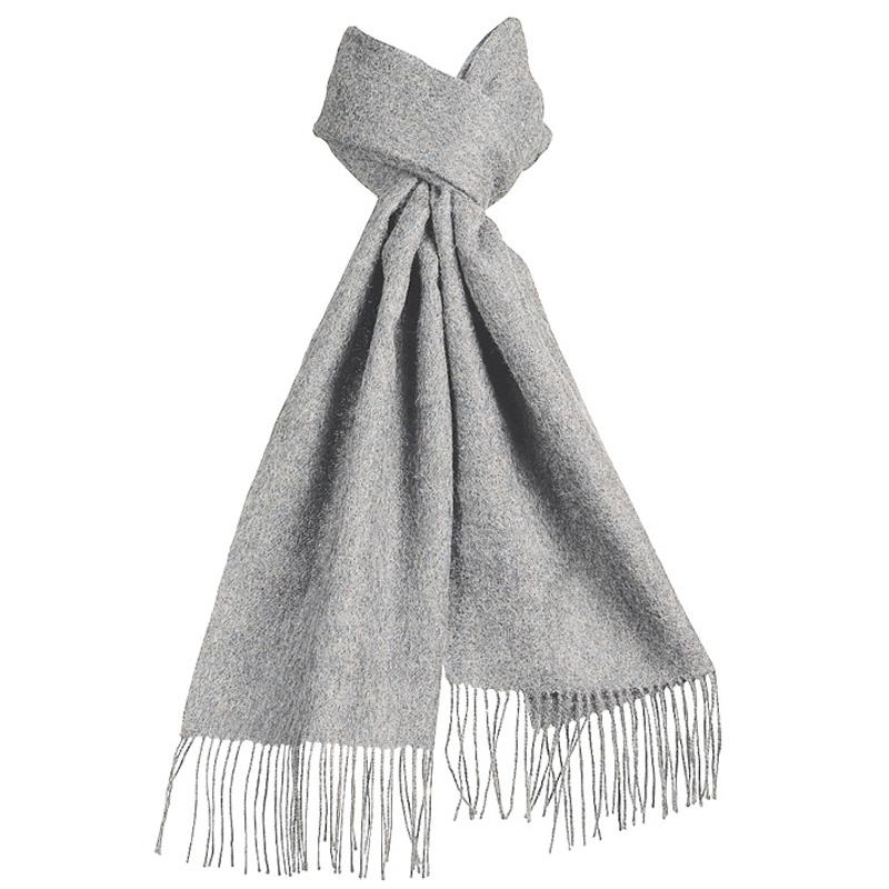 Lysegrå Halstørklæde 100% Baby Alpaka Uld