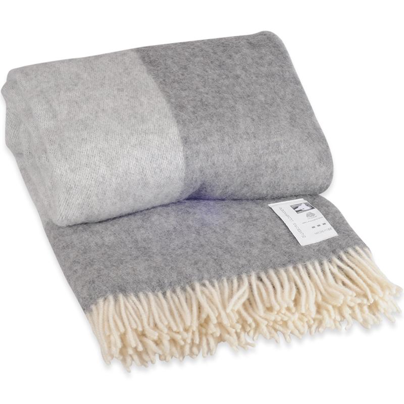 Grå Danaja plaid i 100% uld - 140 X 240 cm