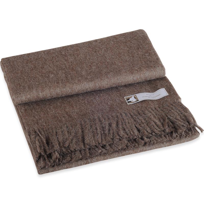 Jessica brun plaid i 100% alpaca uld - 130 X 190 cm