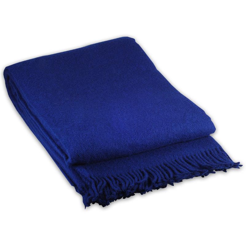 Cobolt Blue Vika Plaid i Lammeuld 130 X 200 cm