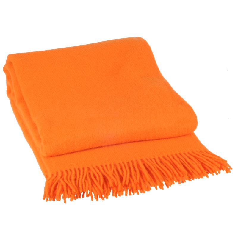 Orange Vika Plaid i Lammeuld 130 X 200 cm