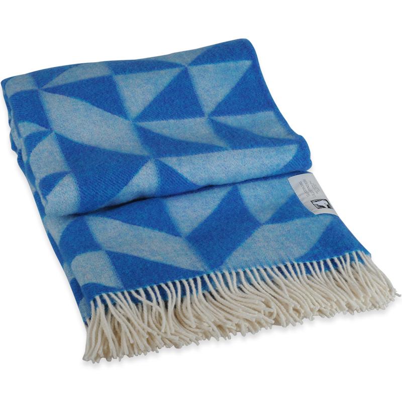 Twist A Twill plaid i 100% uld - blå 130 X 190 cm