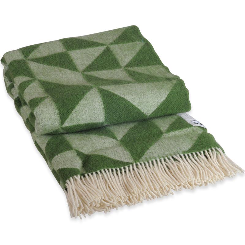 Twist A Twill plaid i 100% uld - grøn 130 X 190 cm