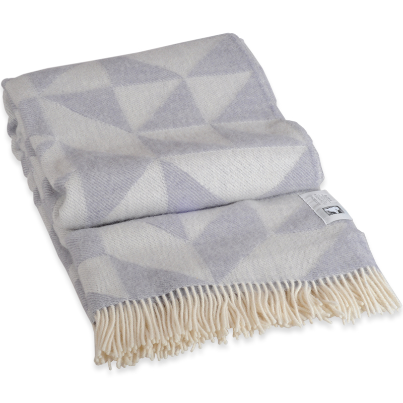 Twist A Twill plaid i 100% uld - lys grå 130 X 190 cm