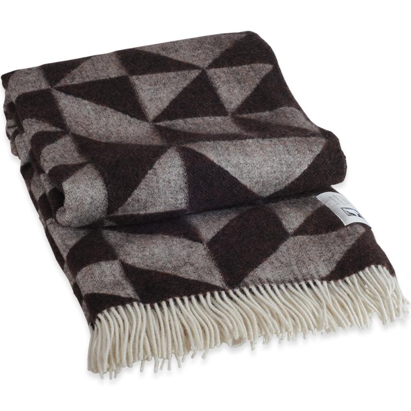 Twist A Twill plaid i 100% uld - brun 130 X 190 cm