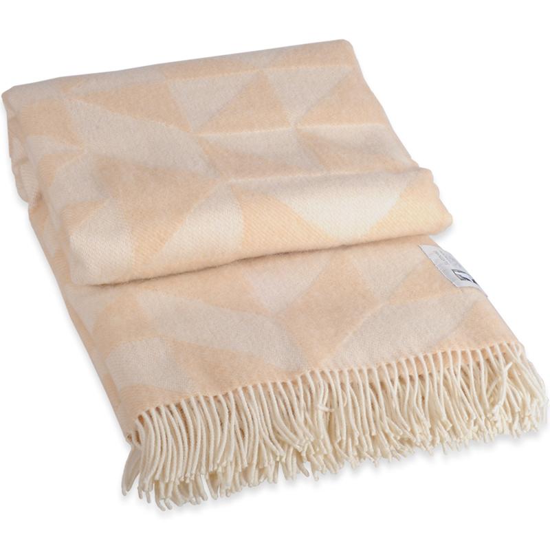 Twist A Twill plaid i 100% uld - beige 130 X 190 cm