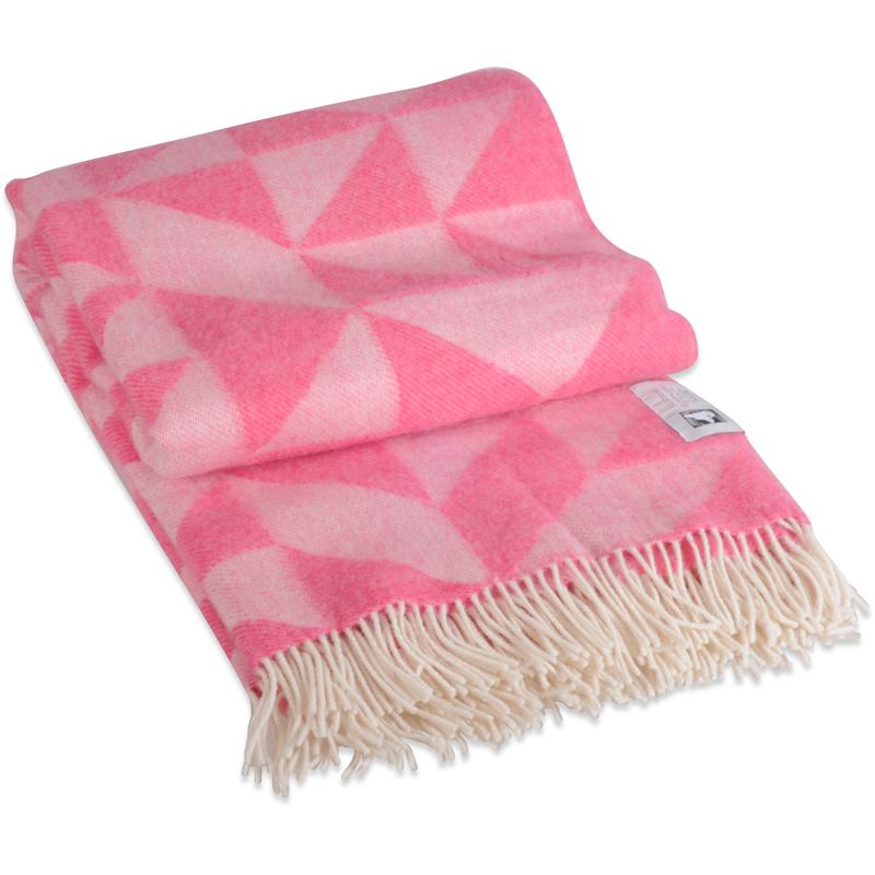 Twist A Twill plaid i 100% uld - pink 130 X 190 cm