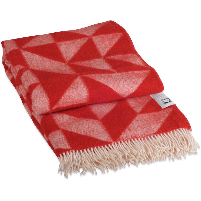 Twist A Twill plaid i 100% uld - rød 130 X 190 cm