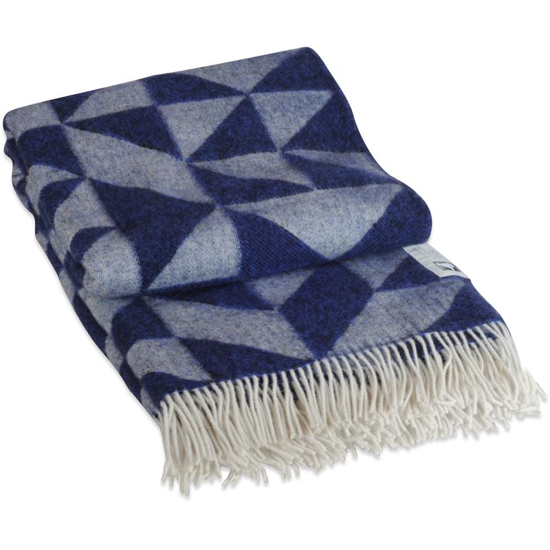 Twist A Twill plaid i 100% uld - navy blå 130 X 190 cm