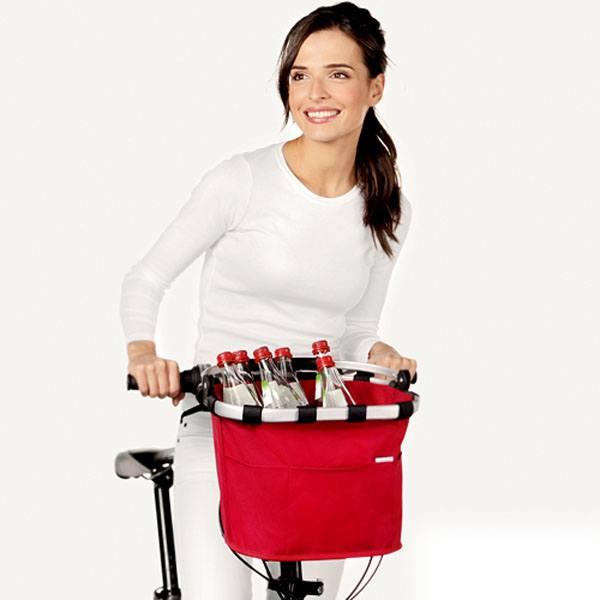 Rød Cykelkurv Bikebasket Plus