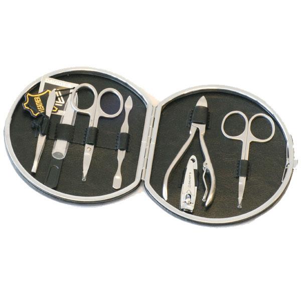Sort Manicuresæt - Læder