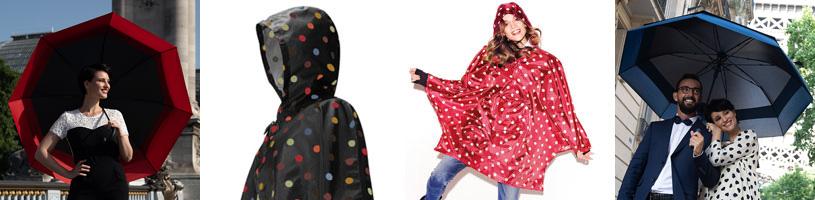 Regnponcho och paraplyer för dam