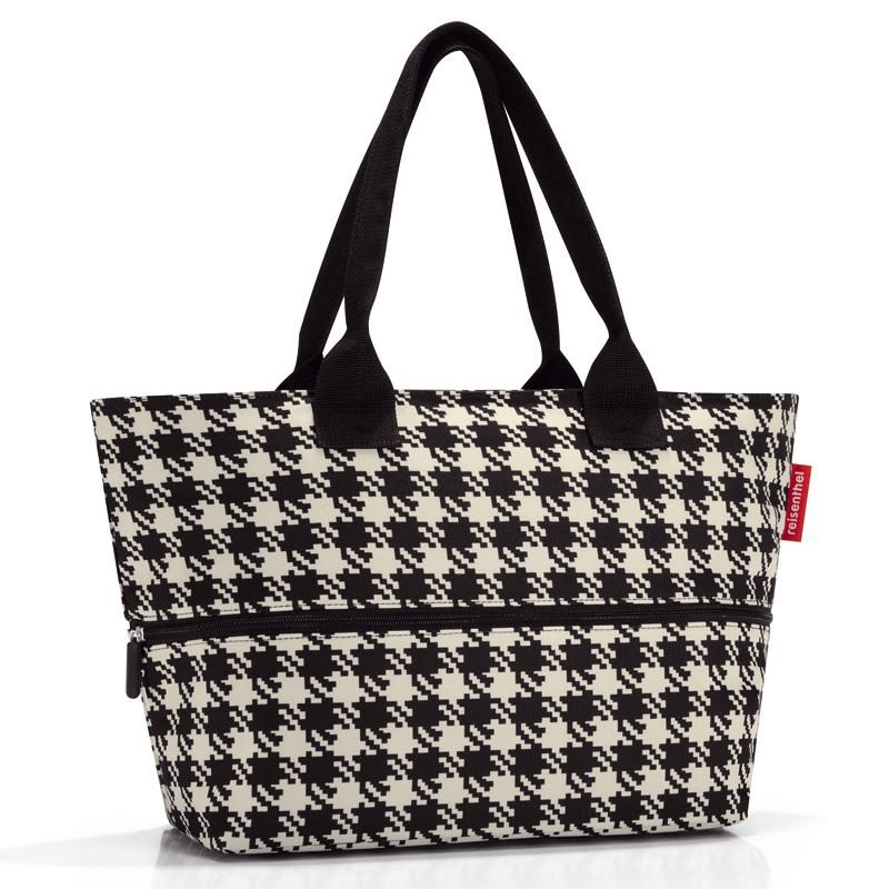 Fifties Black Shopper e1 Indkøbstaske - Kan Udvides!