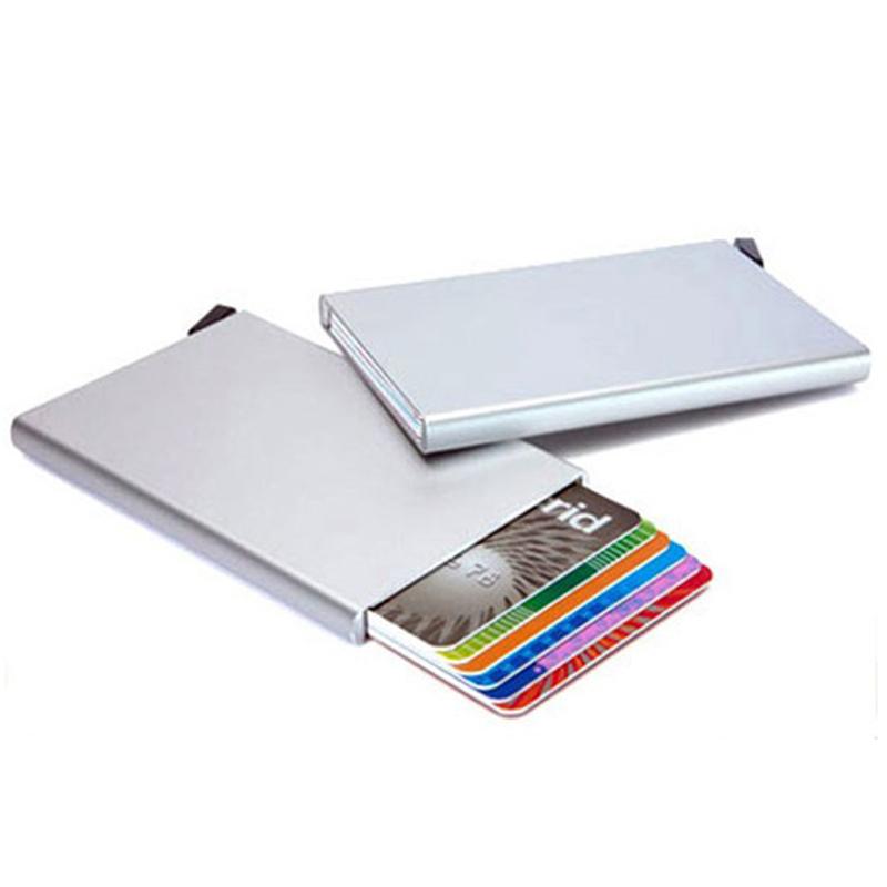 Silver Cardprotector - Aluminium Kortholder - RFID safe