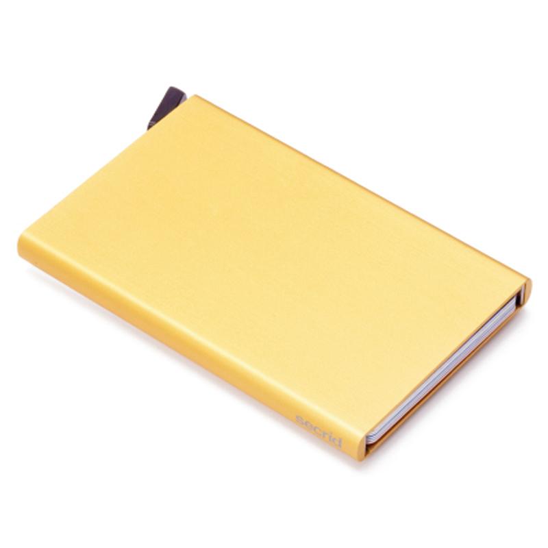 Gold Cardprotector - Aluminium Kortholder - RFID safe