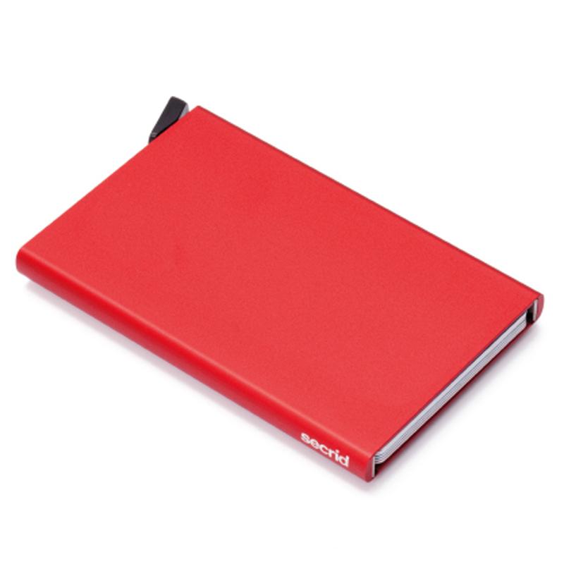 Rød Cardprotector - Aluminium Kortholder - RFID safe