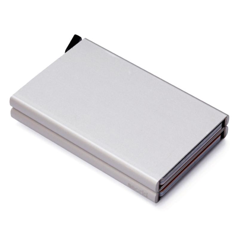 Clear Dobbelt Cardprotector - Aluminium Kortholder - RFID safe