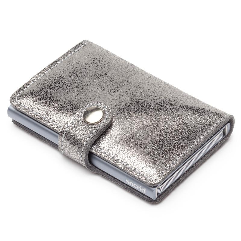 Silver Glamour Miniwallet Aluminiums Pung - RFID safe