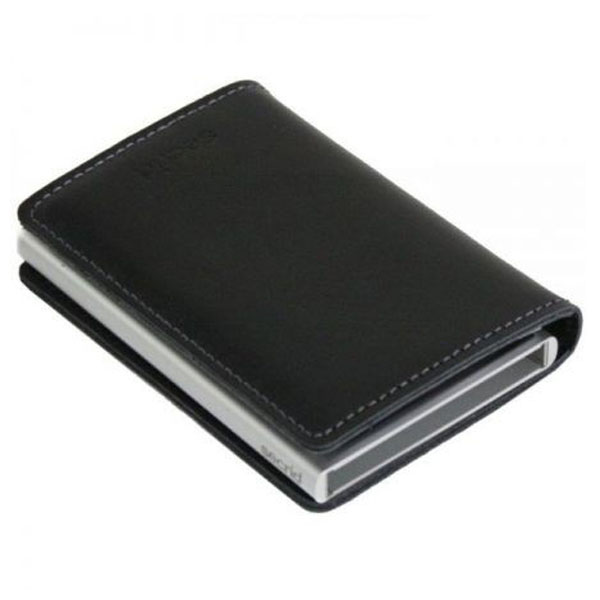 Black Slimwallet Aluminiums Pung - RFID safe