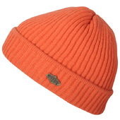 MJM Orange Uld-mix Strikket Hue / Beanie - One Size