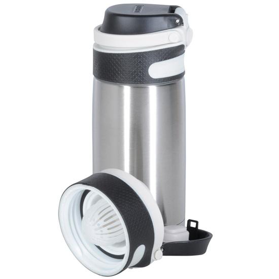 Leifheit Sølv Termokrus Flip - 350 ml - Kold:18t Varm:6t