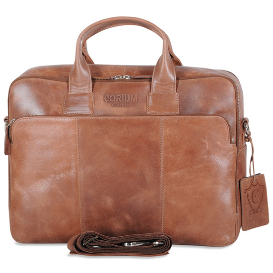 Corium Chesterfield Cognac Computertaske i Skind 10 L