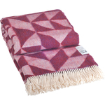 Silkeborg Twist A Twill Merinould Bordeaux Plaid 130X190