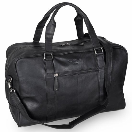 Corium Rejsetaske i Sort Læder 24 L