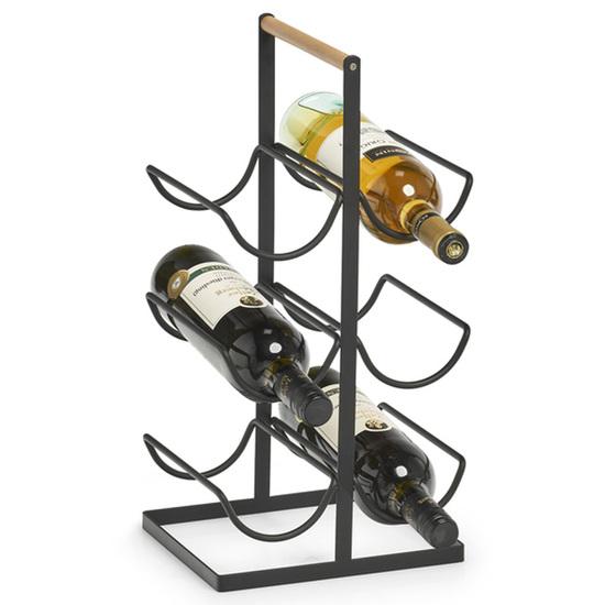 Zeller Present Vinreol i Metal til 6 Flasker