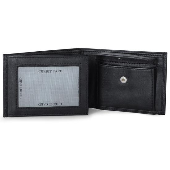 Bruuns Sort Lommepung i Kalveskind RFID safe - 6 Kort