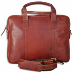 The Monte Business Taske i Cognac Kalveskind 6 L