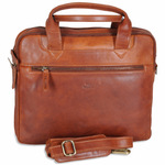 The Monte Smart Business Taske i Cognac Kalveskind 6 L