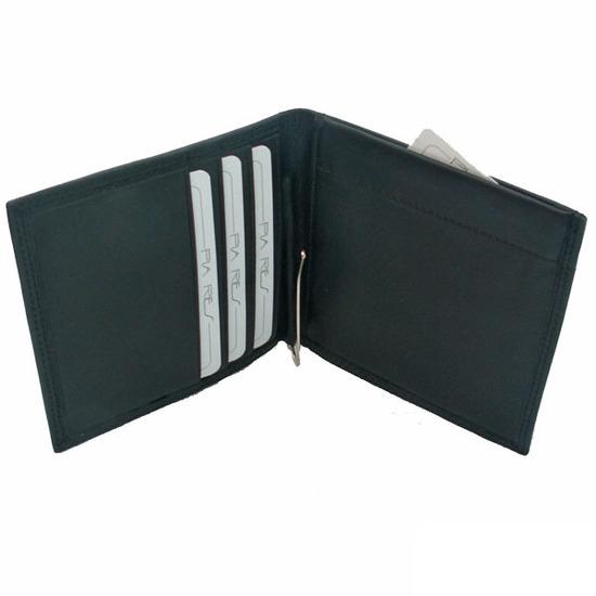 Pia Ries RFID-Safe Sort Klemmepung i Læder - 4 Kort