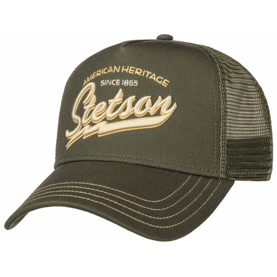 Stetson American Heritage Classic Cap Oliven - One Size(55-60cm)