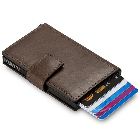 Figuretta RFID-safe Brun Miniwallet Kortholder Pung - 8-10 kort