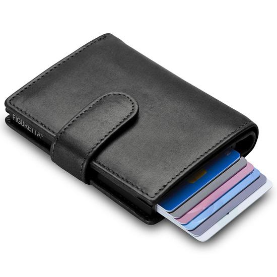 Figuretta RFID-safe Sort Largewallet Kortholder Pung - 8-10 kort