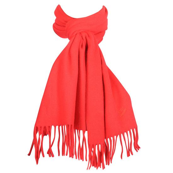 MJM Bologna Rød Halstørklæde i Lammeuld - 30X185