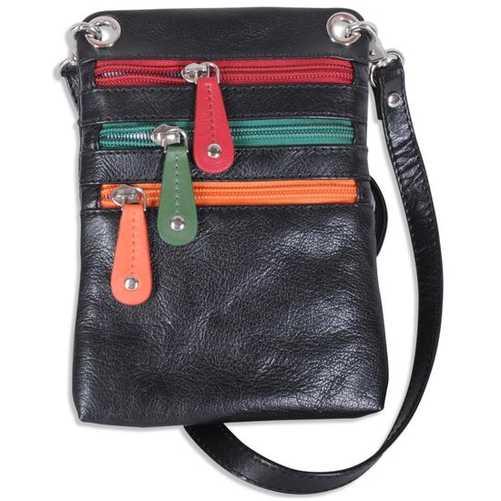 Pia Ries Populær Multi Skuldertaske i  læder - RFID safe