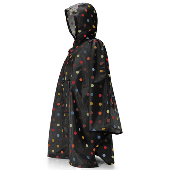 Reisenthel Multi Dots Sort Regnslag Poncho - One Size