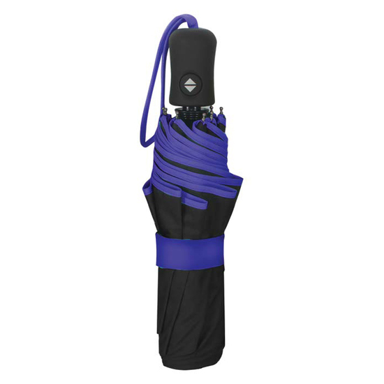Smati Paraply m. blå detaljer - Vindsikker - B: 105 cm - RECYCL