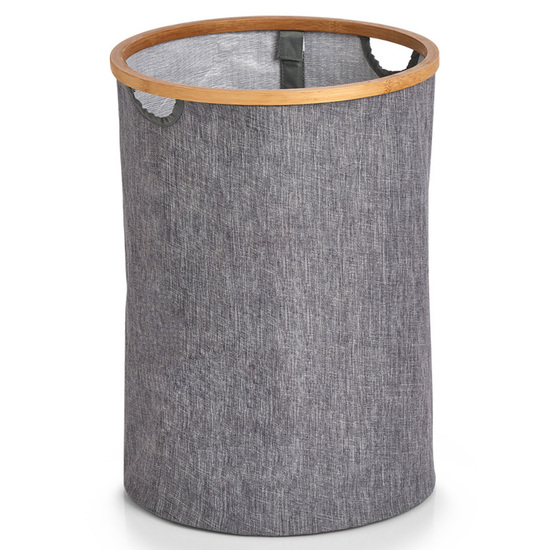 Zeller Present Klassisk Grå Vasketøjskurv - 50 L