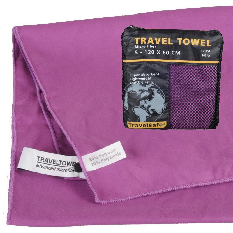 Purple Hurtigt tørrende Letvægts Håndklæde 60 X 120 cm