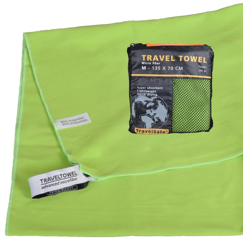 Grøn Hurtigt tørrende Letvægts Håndklæde 70 X 135 cm