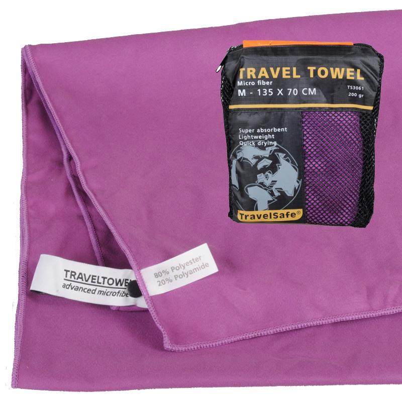 Purple Hurtigt tørrende Letvægts Håndklæde 70 X 135 cm