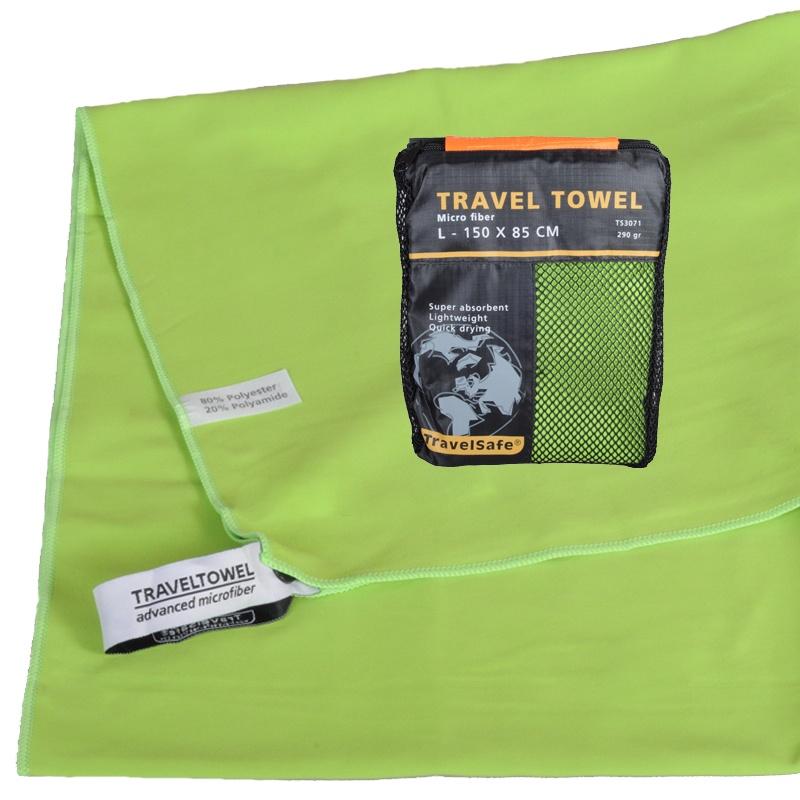 Grøn Hurtigt tørrende Letvægts Håndklæde 85 X 150 cm