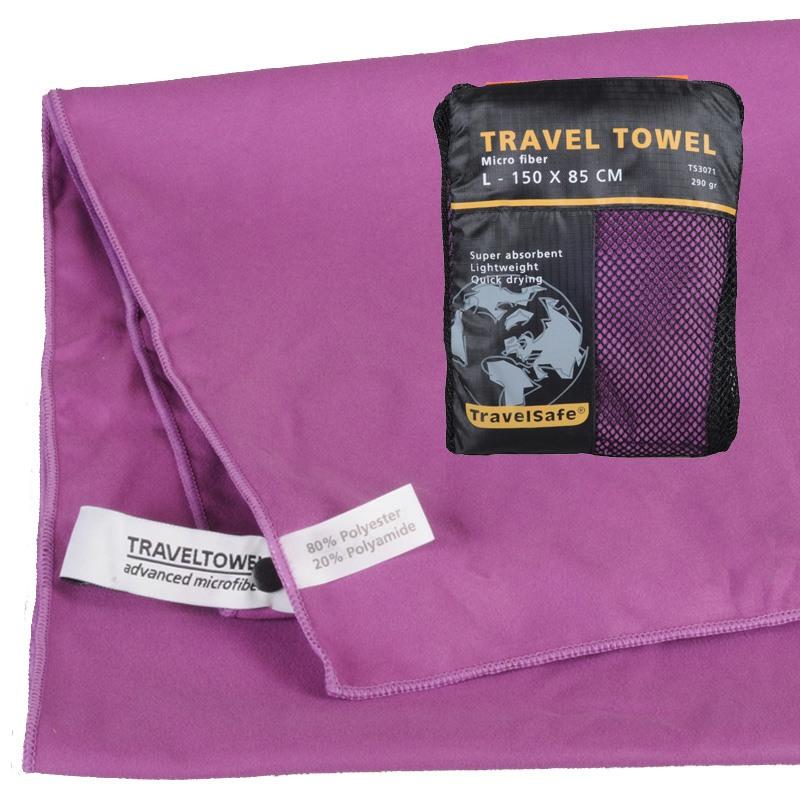 Purple Hurtigt tørrende Letvægts Håndklæde 85 X 150 cm